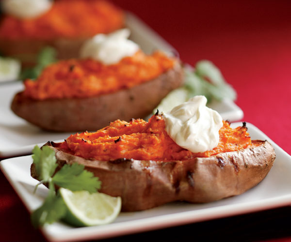 Chipotle Twice Baked Sweet Potatoes: Twice-Baked Sweet Potatoes With Chipotle Chile