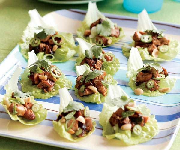 Grilled Hoisin Chicken in Lettuce Cups