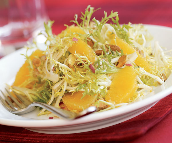 Frisee Salad With Oranges Pistachios
