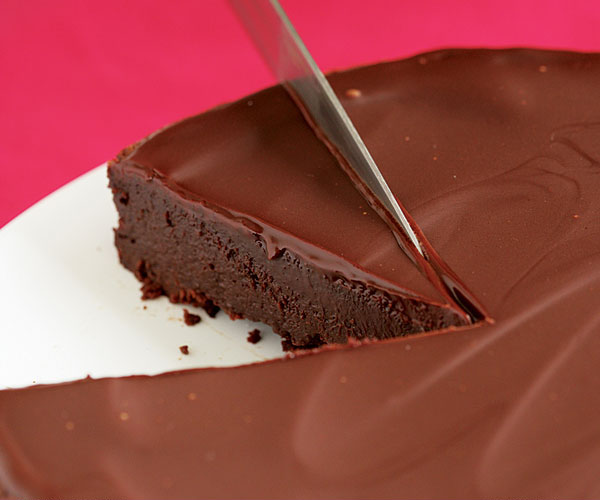 Flourless Chocolate Cake With Chocolate Glaze Recipe Finecooking
