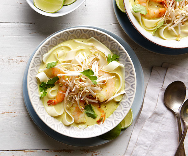Coconut curry rice noodle soup with shrimp recipe finecooking coconut curry rice noodle soup with shrimp forumfinder Image collections