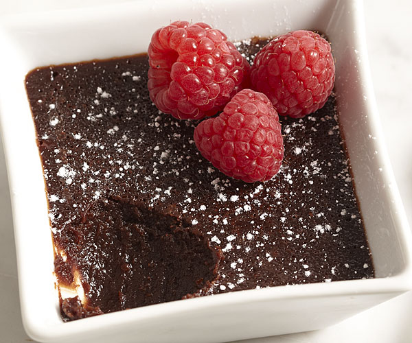 Molten Chocolate Cakes With Raspberries Recipe Finecooking