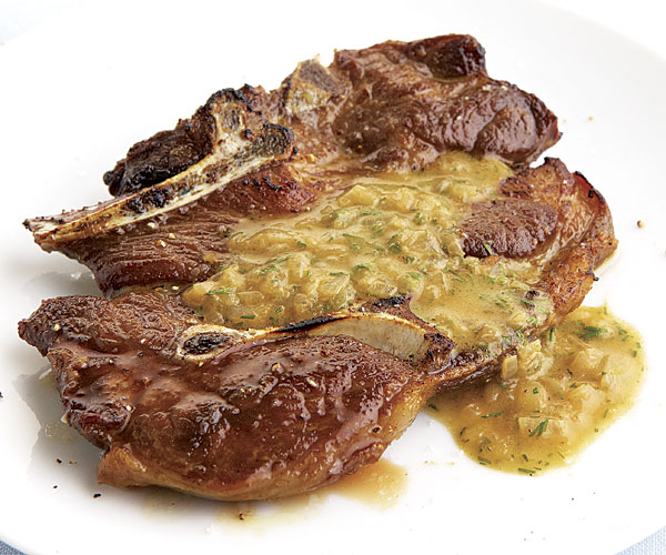 Seared Lamb Shoulder Chops With Mustard-Dill Pan Sauce