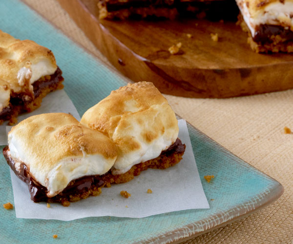 Toasted Bittersweet S'mores Bars