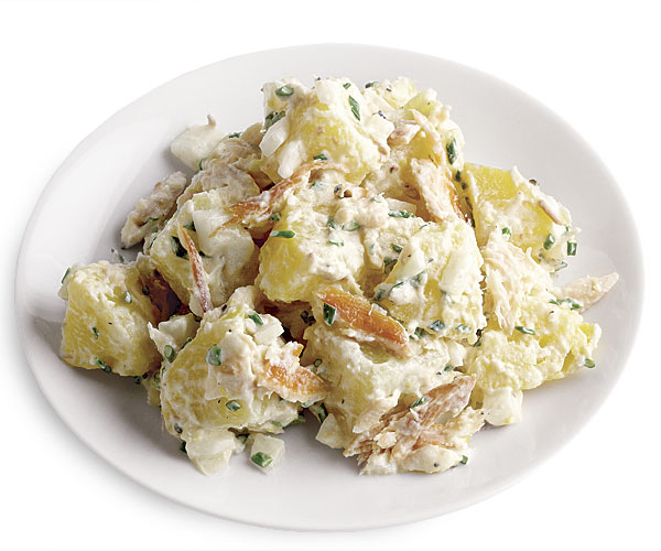 Potato Salad with Smoked Trout and Horseradish