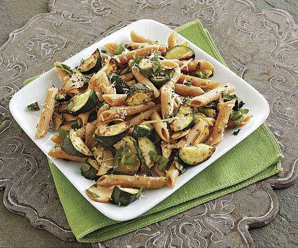 Penne with Zucchini, Fresh Herbs, and Lemon Zest