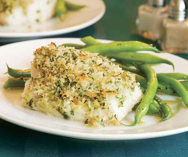 Roasted Cod With Lemon Parsley Crumbs Recipe Finecooking