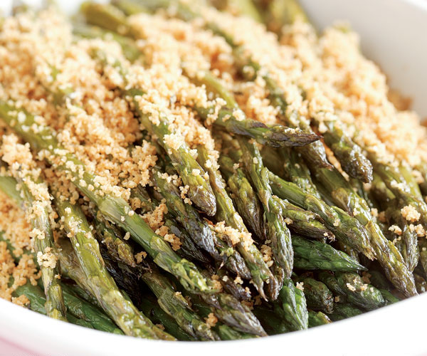 Roasted Asparagus with Buttery Breadcrumbs
