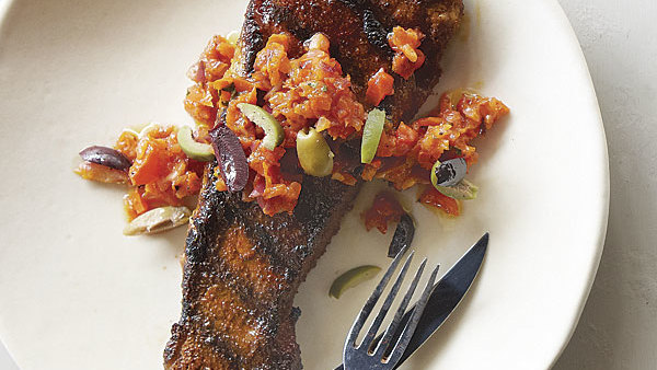 Grilled spice rubbed hanger steak recipe finecooking - Steak d espadon grille sauce combava ...