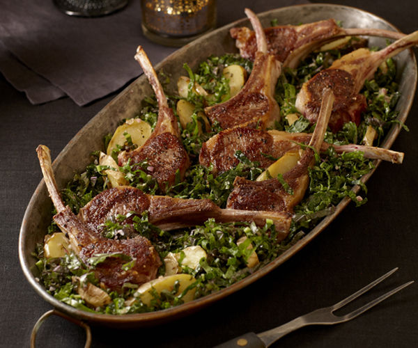 Rack Of Lamb With Kale Salad And Potatoes Recipe