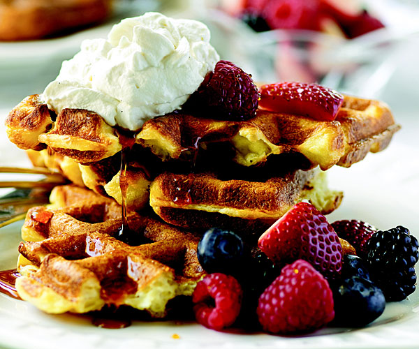 Cousin John S Caf 233 Belgian Waffles Recipe Finecooking