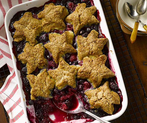 Fourth Of July Mixed Berry Cobbler Recipe Finecooking