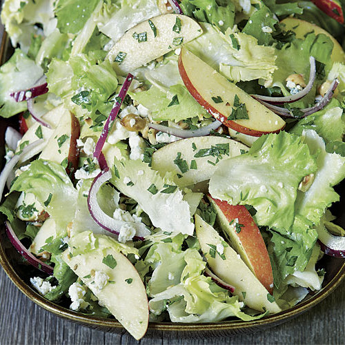 Apple And Escarole Salad With Blue Cheese And Hazelnuts Recipe Finecooking