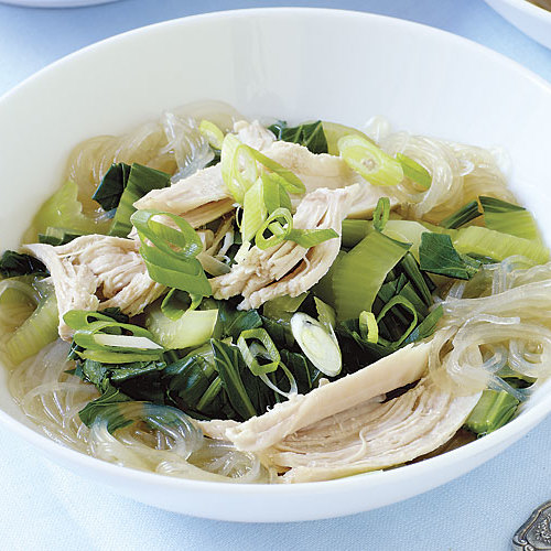 Asian Turkey Noodle Soup With Bok Choy Recipe Finecooking