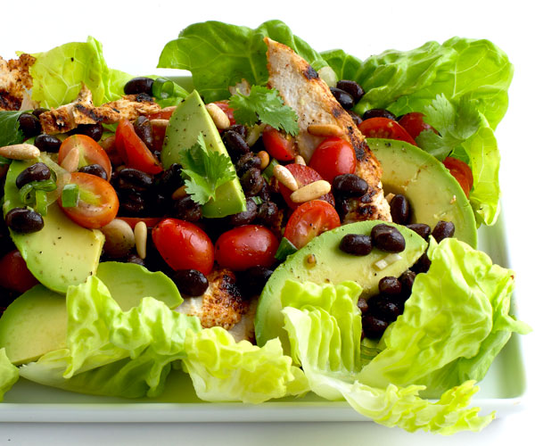 Southwestern grilled chicken salad with tomato and black bean salsa southwestern grilled chicken salad with tomato and black bean salsa forumfinder Images