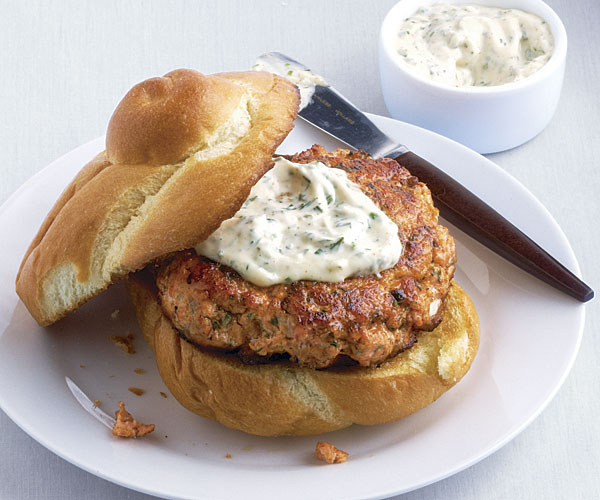 Salmon Burgers with Herb Aïoli