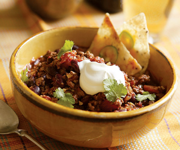 Beef & Bean Chili with Individual Nachos