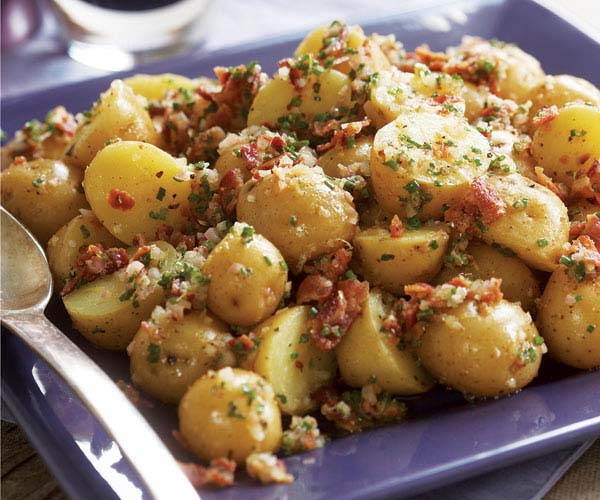 Baby Yukon Potato Salad with Shallots, Chives, Bacon & Lemon Vinaigrette