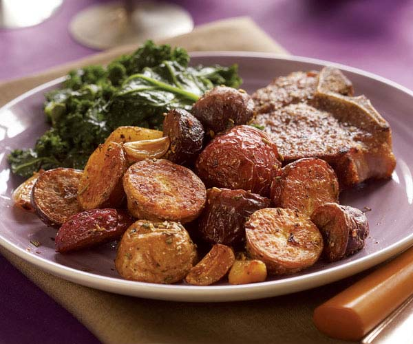 Easy Way To Cook Roasted Red Potatoes: Roasted Baby Red, White & Purple Potatoes With Rosemary