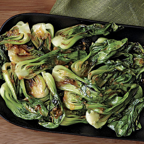 Baby Bok Choy With Warm Miso Ginger Dressing Recipe Finecooking