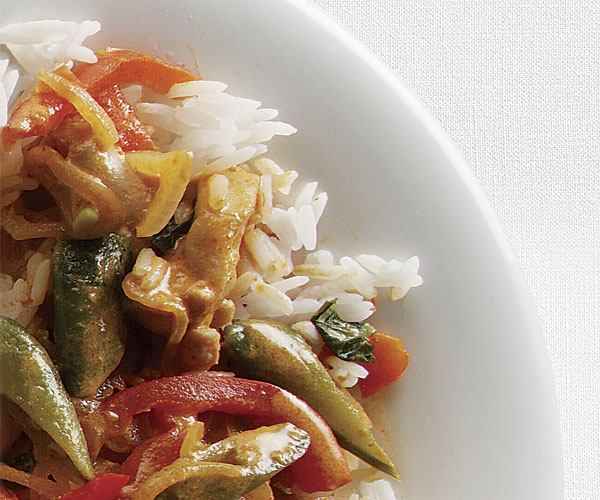 Thai Red Curry With Chicken Vegetables Recipe Finecooking