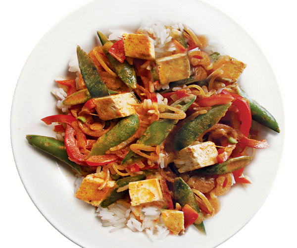Thai red curry with tofu vegetables recipe finecooking scott phillips forumfinder Choice Image