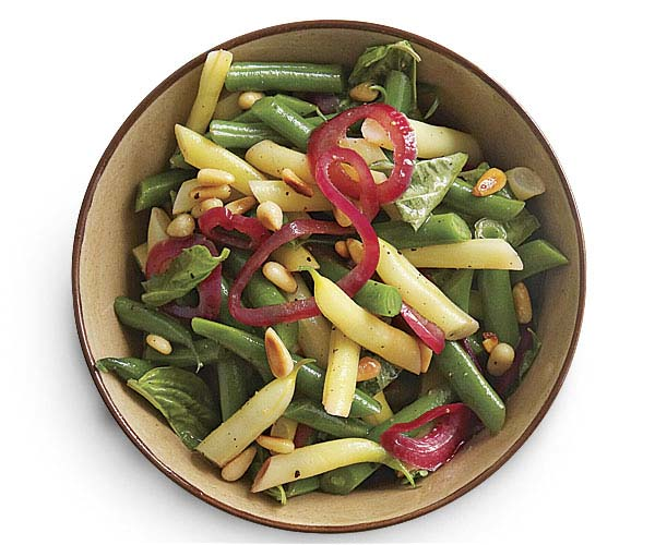Summer Bean Confetti Salad with Pickled Red Onion Vinaigrette