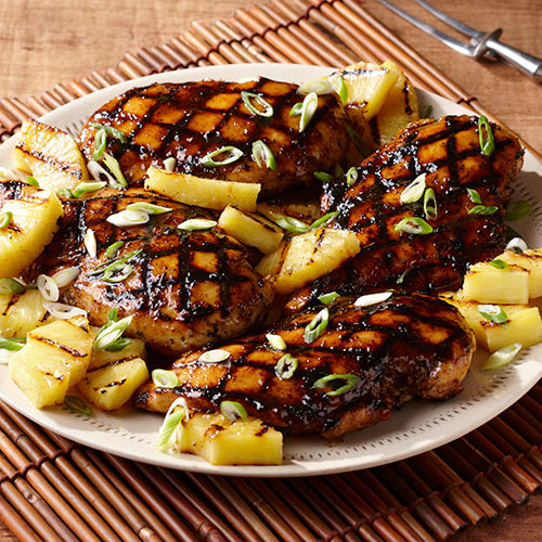 Island Spiced Pineapple Glazed Grilled Chicken Breasts Recipe Finecooking