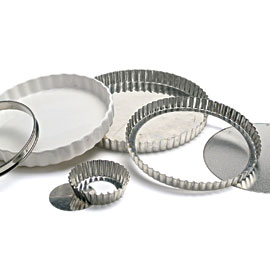 Tart pans come in many shapes and sizes. This assortment includes a flan ring (at left) and a ceramic quiche pan (second from left).  sc 1 st  Fine Cooking & Pie Pans vs. Tart Pans - FineCooking