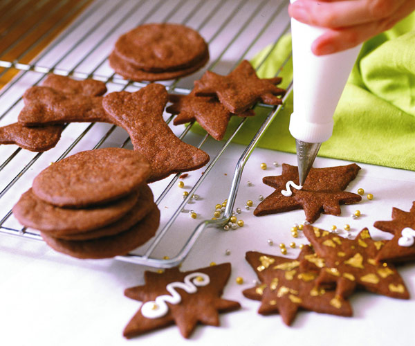 Christmas Cut Out Cookies.Chocolate Cut Outs
