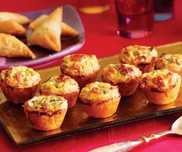 Bacon, Leek & Cheddar Mini Quiches