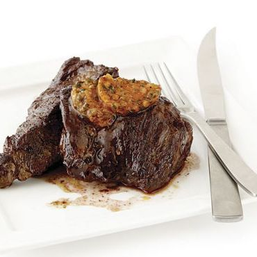 Sirloin Tip Steaks with Café de Paris Butter