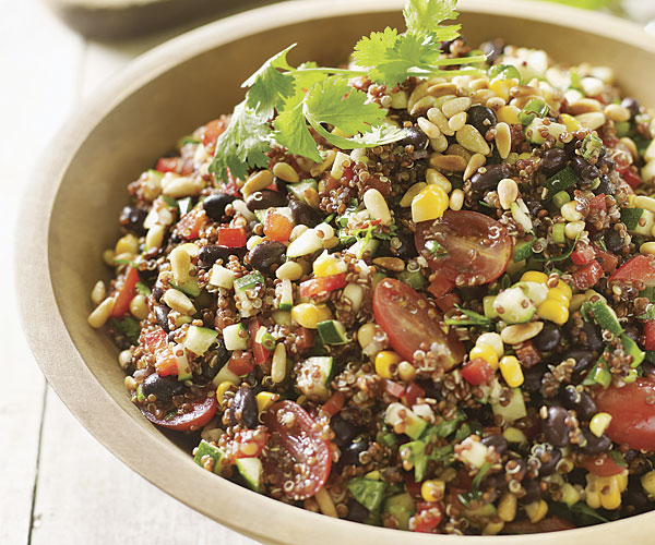 Southwestern Quinoa Salad with Black Beans and Farm stand Veggies