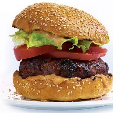 Bison Burgers with Thousand Island Barbecue Dressing recipe