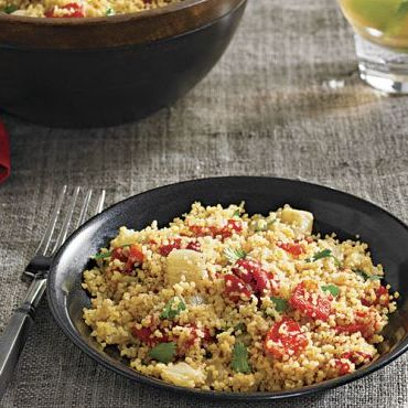 Spiced Couscous with Fennel and Roasted Red Peppers
