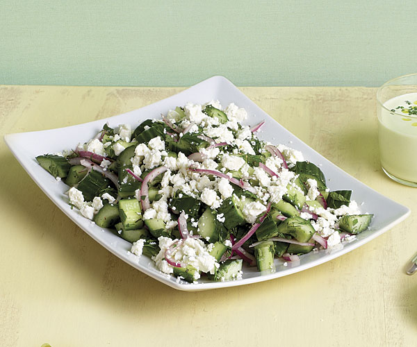 Cucumber and Herb Salad with Crumbled Feta recipe