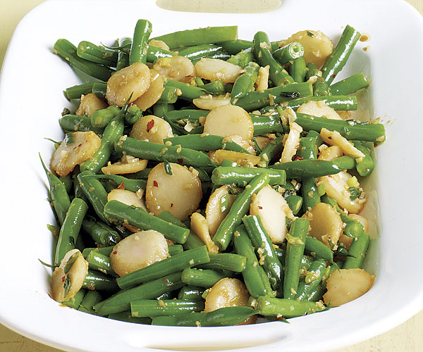 Sautéed Green Beans with Water Chestnuts and Ginger recipe