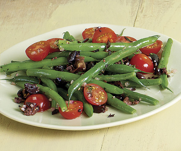 Green Beans with Cherry Tomatoes and Niçoise Olives recipe