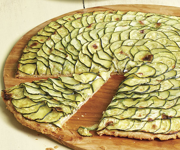 Zucchini Tart with Lemon Thyme and Goat Cheese recipe