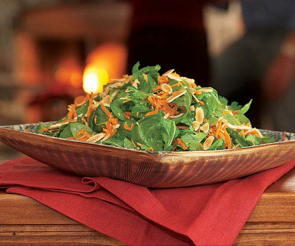 Arugula, Carrot & Raw Celery Root Salad with Almonds recipe