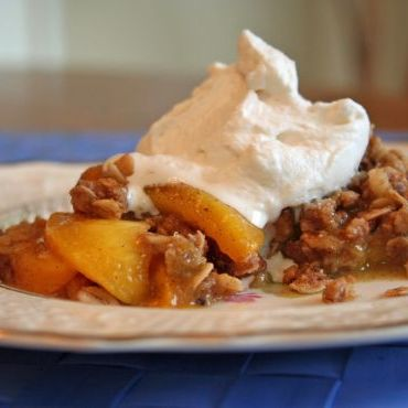 JPSavoringToday's Grilled Peach-Vanilla Bean Crisp recipe