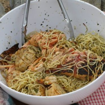 Pufferbellies Grilled Seafood Pasta