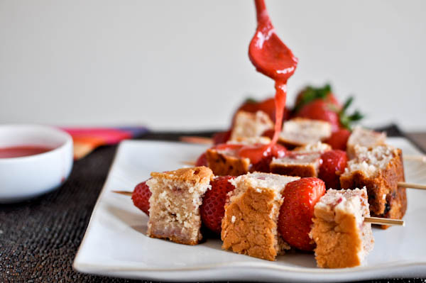 Strawberry and Cream Cake Kebabs