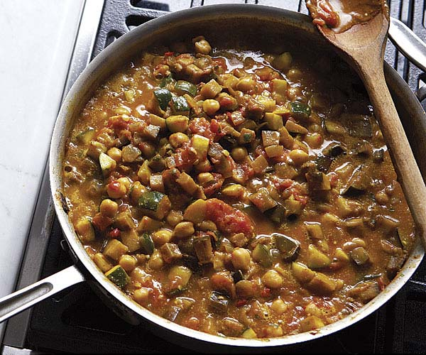 Curried Chickpea & Summer Vegetable Stew