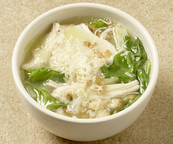 Chicken Soup With White Beans Farro And Escarole