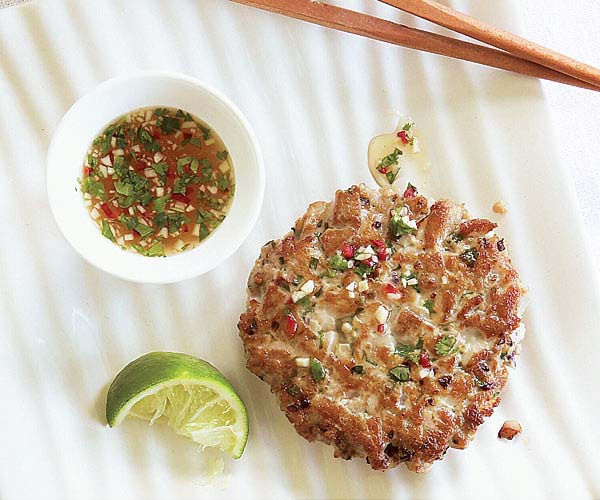 Fresh Tuna Burgers with Ginger & Cilantro