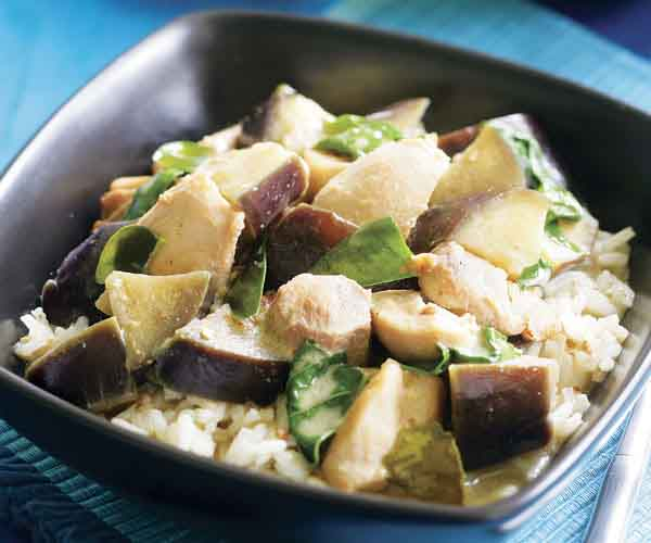 Green Curry With Chicken Eggplant