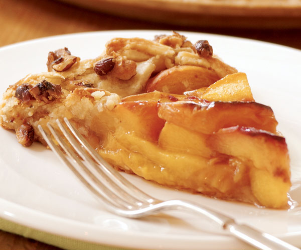 Peach-Ginger Galette with Hazelnuts