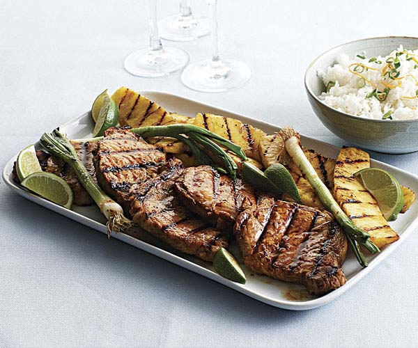 Grilled Ginger-Sesame Pork Chops