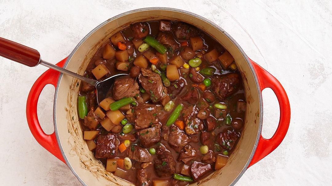 Quick Beef Stew With Red Wine And Rosemary Recipe
